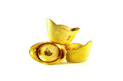 Chinesische Goldbarren Lizenzfreies Stockfoto