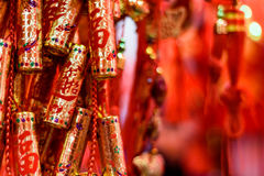 Chinesische goldene Kracher Stockfotografie