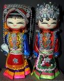 Chinesische hölzerne Puppen Stockbilder