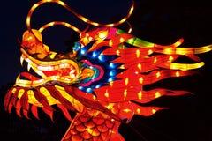 Chinesische Hauptlaterne des Drachen Stockbild