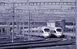 Chinesische Hochgeschwindigkeitsschiene Stockbilder