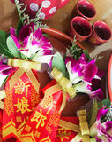 Chinesische Hochzeitscorsage Stockbild