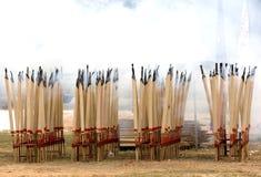 Chinesische hungrige Geist-Festival-Joss-Steuerknüppel stockfoto