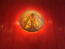 Chinesische Hut-Lampe Lizenzfreies Stockfoto