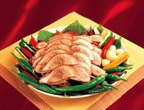 Chinesische Küche, exotischer Teller. lizenzfreies stockbild