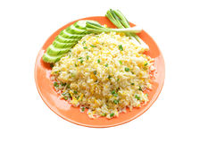 Chinesische Küche - Fried Rice mit Gemüse und Fleisch stockbilder