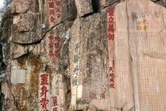 Chinesische Kalligraphie Stockbild