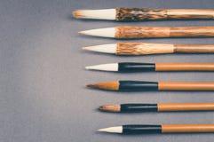 Chinesische Kalligraphiebürste für traditionelles Schreiben Beschneidungspfad eingeschlossen stockbilder