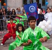 Chinesische Kampfkünste auf Mondfestival in Paris Stockfotografie