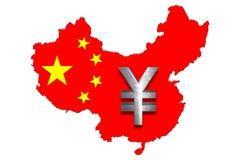 Chinesische Karte und Yuan Lizenzfreie Stockbilder