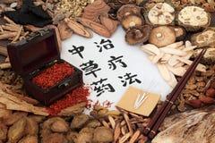 Chinesische Kräutertherapie Stockfotos