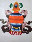 Chinesische Kunst Malereien lizenzfreie abbildung