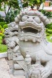 Chinesische Löwe-Statue Stockbild