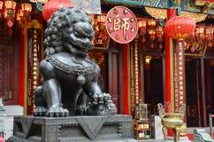 Chinesische Löwe-Statue Lizenzfreies Stockfoto