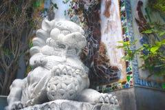 Chinesische Löwe-Statue Stockfotografie