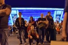Chinesische Laterne nachts lizenzfreie stockfotografie