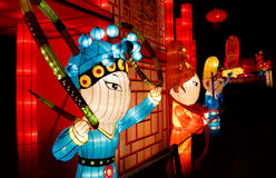 Chinesische Laterne Show stockfotos