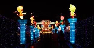 Chinesische Laterne Show stockbild