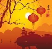 Chinesische Laternen stock abbildung