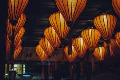 Chinesische Laternen in einem Restaurant Stockfoto
