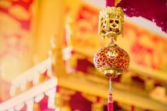 Chinesische Laternen im Tempel Stockbilder