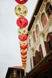 Chinesische Laternen in Singapur Lizenzfreie Stockbilder
