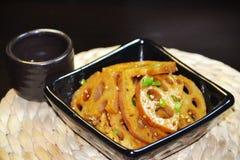 Chinesische Lebensmittellotos-Wurzelscheiben lizenzfreies stockfoto