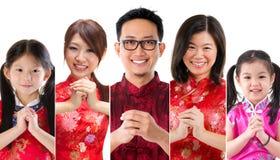 Chinesische Leute des neuen Jahres Stockfotos