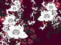 Chinesische Lotos-Blume vektor abbildung