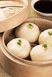 Chinesische Mahlzeit baozi alias schwacher Sonne Lizenzfreies Stockfoto