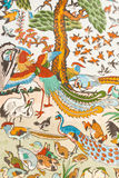 Chinesische Malerei auf der Wand lizenzfreie stockfotografie