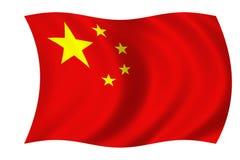Chinesische Markierungsfahne Stockfotografie