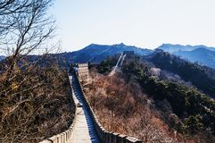Chinesische Mauer bei Mutianyu Lizenzfreies Stockfoto