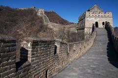 Chinesische Mauer bei Mutianyu Stockfotos