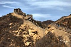 Chinesische Mauer des Porzellans Stockbild