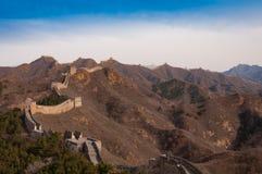 Chinesische Mauer des Porzellans beim Jinshanling Stockfotos