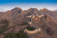 Chinesische Mauer des Porzellans beim Jinshanling Stockbilder