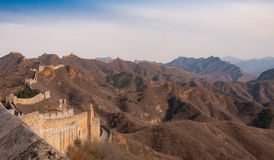 Chinesische Mauer des Porzellans beim Jinshanling Lizenzfreies Stockfoto