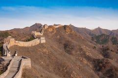 Chinesische Mauer des Porzellans beim Jinshanling Lizenzfreie Stockfotos