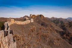 Chinesische Mauer des Porzellans beim Jinshanling Stockbild