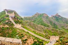 Chinesische Mauer durch das Jinshanling in China Stockfotografie
