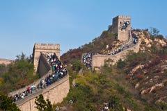 Chinesische Mauer am Feiertag Stockbilder