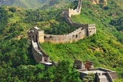 Chinesische Mauer im Sommer Lizenzfreie Stockfotos