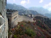 Chinesische Mauer nah oben im Herbst Stockbild