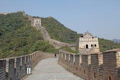 Chinesische Mauer von China Mutianyu Stockbild