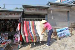 Chinesische Mauer von China Mutianyu markt andenken Lizenzfreie Stockfotos