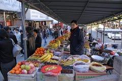 Chinesische Mauer von China Mutianyu markt Früchte Stockfoto