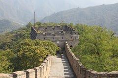 Chinesische Mauer von China Mutianyu Turm Stockfotos