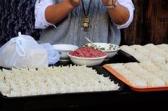 Chinesische Mehlklöße Stockbild