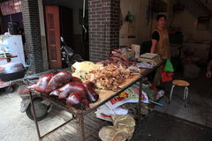 Chinesische Metzgerei Stockbilder